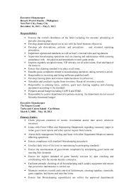 Executive Housekeeper Resume Gabby Resume Updated 2016