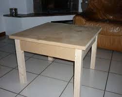 fabrication d un bureau en bois fabriquer une table basse en bois astuces pratiques