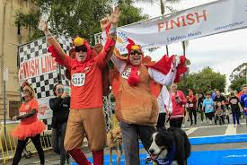 south park thanksgiving gobbles increasingly popular turkey trots are family affairs the san