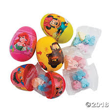 easter eggs filled with toys filled disney sup sup plastic easter eggs