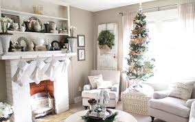 decorations white christmas family room interior decor feature