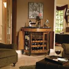 simple wooden corner wine racks design featuring wooden polished