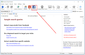 facebook email extractor scrape emails from facebook
