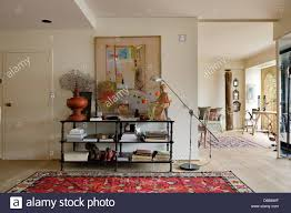 Entrance Hall Table by Open Plan Entrance Hall With Iron And Timber Table Painting By