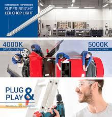 hyperselect led shop light 4ft garage utility led light