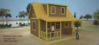 Native House Design Penobscot Cabin Plans Simple Solar Homesteading