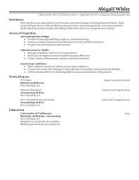 best jobs for accounting students good objective for internship resume