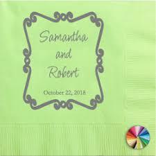 printed wedding napkins design your own personalized wedding napkins printed fast