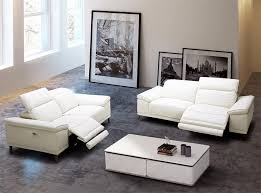 Modern Reclining Leather Sofa Giovani Modern Power Recliner Sofa By J M Furniture