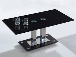 black and glass coffee table glass coffee afla