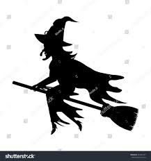 printable halloween silhouette templates witch template virtren com