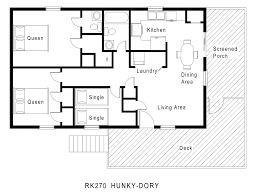 Single Story Bungalowouse Plan Interesting Simple Small Floor