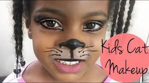kitty face halloween cat halloween makeup for kids youtube