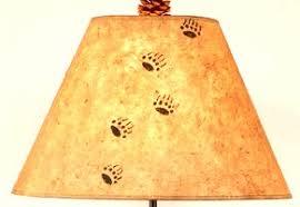 bear tracks lamp shade the log furniture store