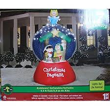 Snoopy Christmas Inflatable Decorations by Amazon Com Snoopy Peanuts 7 Ft Airblown Inflatable Patio Lawn