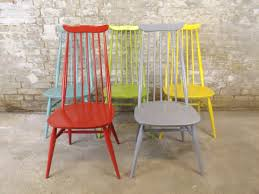 Ercol Dining Room Furniture Colourfull Painted Ercol Goldsmith Dining Chairs By Retrofrank