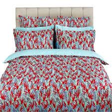 drap en satin de coton drap 240x295cm paradise piment par kenzo maison la boutique