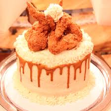 fried chicken cake with mashed potatoes gravy fried chicken