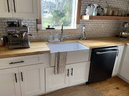 kitchen with white cabinets and wood countertops butcher block kitchen wood countertops kitchen white