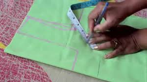 how to measure and cut simple blouse part 1 youtube