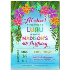 luau party u2013 free printable summer party invitation template with