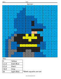 batman addition coloring squared