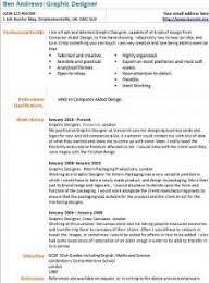 Graphic Designer Resume Example by Graphic Designer Cv Example Learnist Org