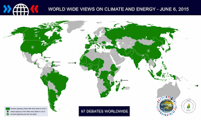 Climate World Map by The Verb World Wide Concern For Climate Change