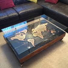 Map Coffee Table Handmade Vintage World Map Coffee Table By Lime Lace