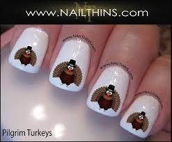 thanksgiving nail decals turkey nail by nailthins