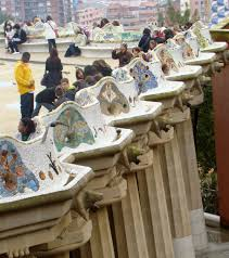 Serpentine Bench Park Guell And Las Ramblas