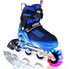 light up inline skates amazon com crazy skates boy s led adjustable inline skates light
