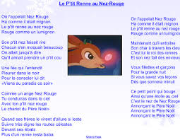 La Meme Histoire Lyrics - rudolph the red nosed reindeer song lyrics in french maddy