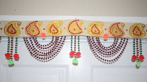 toran door hangings with beads at home diwali decoration ideas