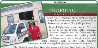 Tropical Upholstery Pressreader Broome Advertiser 2016 02 25 Tropical Upholstery