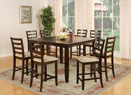 Counter Height Upholstered Chairs Home Design 8 Chair Dining Table Is Also A Kind Of Square