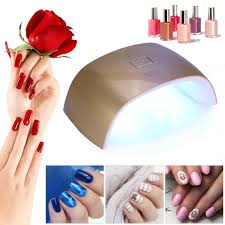 sun 9x led uv nail gel curing lamp light nail gel polish dryer