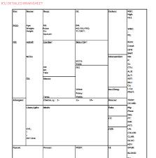 Nursing Report Sheet Templates The Nursing Brain Sheet Database 33 Report Sheet