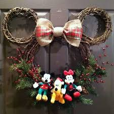 Minnie Mouse Christmas Decorations Minnie U0026 Mickey Mouse Christmas Wreaths Crafty Morning