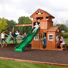 Backyard Adventures Price List Backyard Discovery Shenandoah Cedar Wood Swing Set Walmart Com