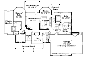 Dual Master Suites Craftsman House Plans Cedar Creek 30 916 Associated Designs