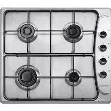 plaque cuisine gaz plaque de cuisson gaz 4 foyers inox zpl46sx leroy merlin