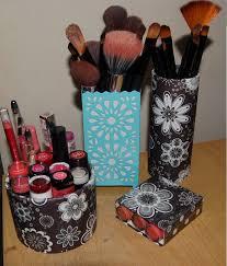 Makeup Organizer Desk Bedroom Diy Makeup Organizer Skin Makeup With Diy Brush Holder