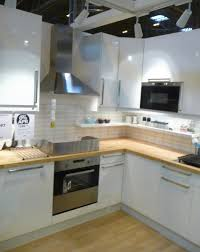 ikea u0027s abstrakt high gloss white kitchen display at grand designs