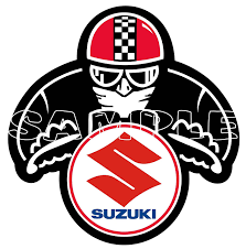 suzuki symbol 60mm suzuki old cafe racer sticker use on motorbikes