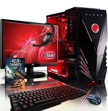 ordinateur de bureau avec windows 7 vibox sharp shooter paquet 7 4 0ghz nvidia gamer gaming pc