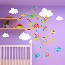 fleurs dans une chambre stickers chambre bébé fleurs et nuages pour des rêves éveillés