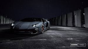 lamborghini aventador headlights in the dark novitec superchargers lamborghini aventador sv roadster to 970 hp