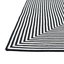 Black And White Outdoor Rug Braided Cromwell Indoor Outdoor Rug 7 6 X 9 6 7 6 X 7 6
