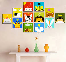 tableau deco chambre enfant tableaux animaux animals
